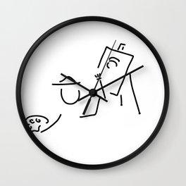 painter artist easel Wall Clock