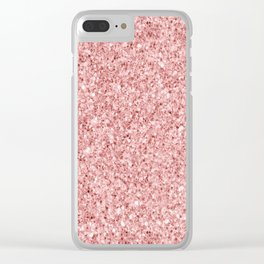 A Touch of Pink Glitter Clear iPhone Case