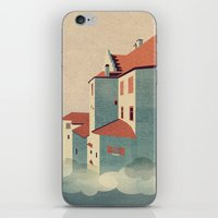 castle in the sky iPhone & iPod Skins featuring Castle in the Sky by Schwebewesen • Romina Lutz