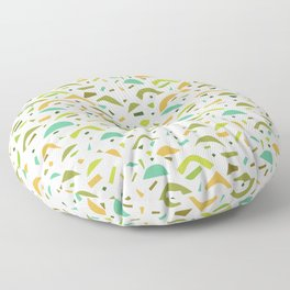 Abstract Green and Orange Pattern Floor Pillow