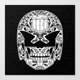 Day of the Dredd - Black Canvas Print