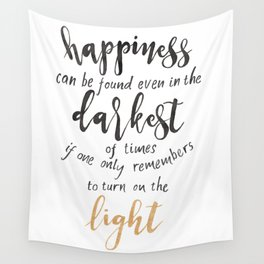 Dumbledore Quote | Happiness can be found... | Watercolor Wall Tapestry