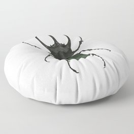 Atlas Beetle Insect Digital Watercolor Floor Pillow