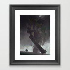 the Third Colossus Framed Art Print