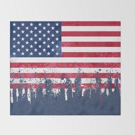 Merican Flag OG Throw Blanket