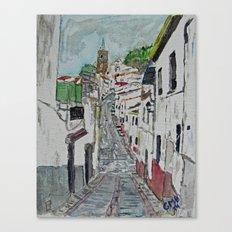 Calle en Ardales Canvas Print