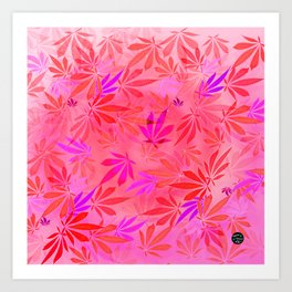 Blush Cannabis Swirl Art Print