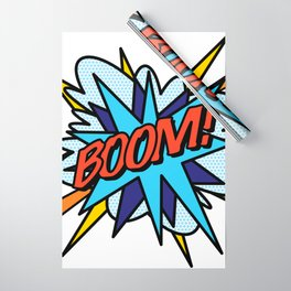 Comic Book Pop Art BOOM Wrapping Paper