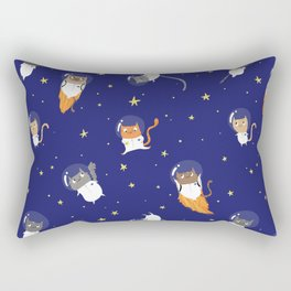 Space Cats - Pattern Rectangular Pillow