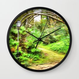 Mysterious Forest, Sintra (Portugal) Wall Clock