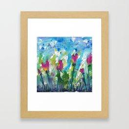 Tulip Hearts Framed Art Print
