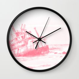 shipwreck aqrepw Wall Clock