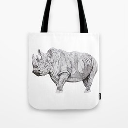 Northern White Rhino Tote Bag