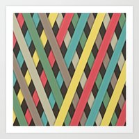 striped Art Prints featuring Striped by General Design Studio