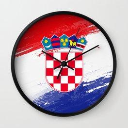 Croatia's Flag Design Wall Clock
