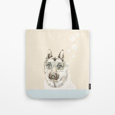 Diver Dog Tote Bag