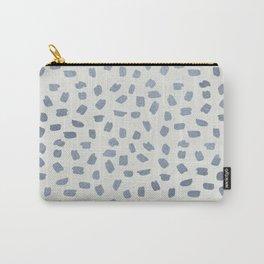 Simply Ink Splotch Indigo Blue on Lunar Gray Carry-All Pouch
