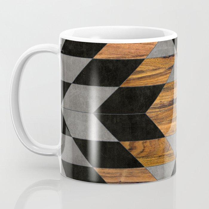 Urban Tribal Pattern No.10 - Aztec - Concrete and Wood Coffee Mug