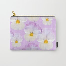 Pansies Dream #2 #floral #pattern #decor #art #society6 Carry-All Pouch