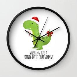 Wishing You A Dino-Mite Christmas Wall Clock