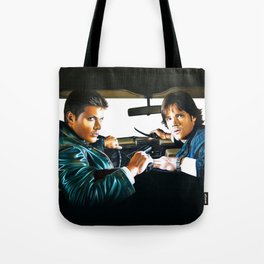 Sam and Dean Supernatural Tote Bag