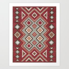 Traditional Moroccan Rud Design C5 Art Print