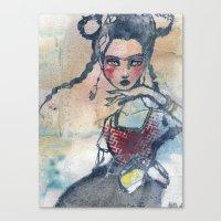 jane davenport Canvas Prints featuring Frida is an Emotion by Jane Davenport by Jane Davenport