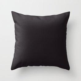 Geometry ~ Darkest Brown Throw Pillow