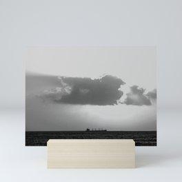 Evening clouds over the sea Mini Art Print
