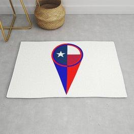 Texas Map Pointer Location Flag Rug