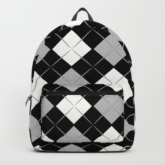 Checkered background Backpack