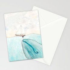 Whale watching Stationery Cards