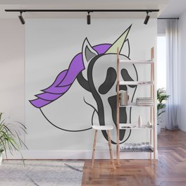 Unicorn Mask Human scary Halloween Dress Up Carnival Kids Gift Idea Wall Mural