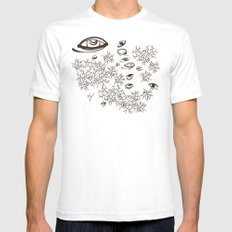 In the Barrens SMALL White Mens Fitted Tee