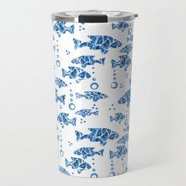 Blue fish. Travel Mug