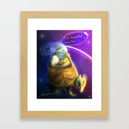 Space Turtle Dad Framed Art Print