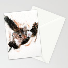 Stone marten realistic Stationery Cards