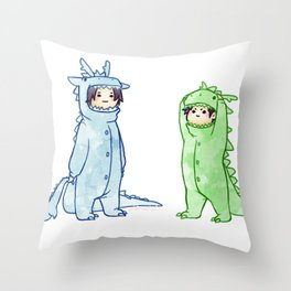 dragon brothers Throw Pillow
