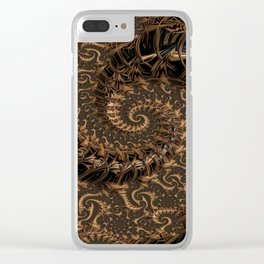 Gold Mine Spiral Clear iPhone Case