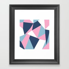 Abstraction Pink Framed Art Print