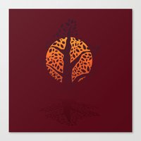 silhouette Canvas Prints featuring Silhouette by Brad Hansen
