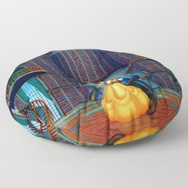 Beauty And The Beast Floor Pillow