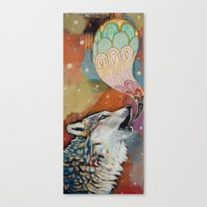 wolf song Canvas Print