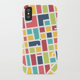 Lancaster, PA Block Map iPhone Case