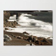 Ocean Waves and Rocks Canvas Print