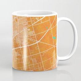 Midland, TX, USA, Gold, Blue, City, Map Coffee Mug
