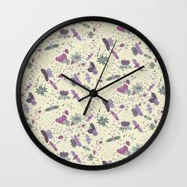Butterfly Meadow Wall Clock
