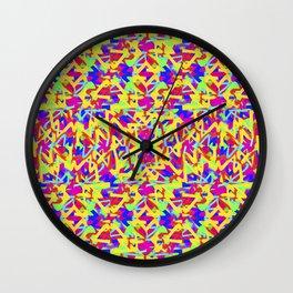 Multicolored Linear Pattern Design Wall Clock