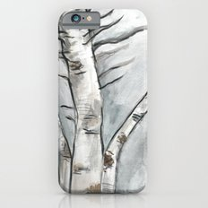 Birch Trees in Winter iPhone 6 Slim Case