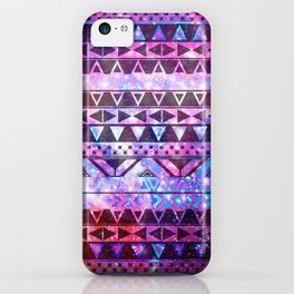 Head In Space | Girly Andes Aztec Pattern Pink Teal Nebula Galaxy iPhone Case